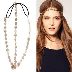 Crown Chain Hair Headband Headwrap Headdress Boho - hijab accessory