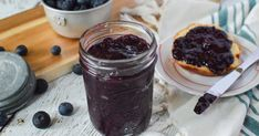 This blueberry chia jam is a lovely addition to a traditional peanut butter sandwich, but it is also delicious on toast, muffins, biscuits, oatmeal, overnight oats, and desserts. .