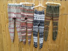 Custom made Upcycled Sweater Leggings. What a fabulous idea! Great for colder climates! I want to try this one for our Winnipeg winters.
