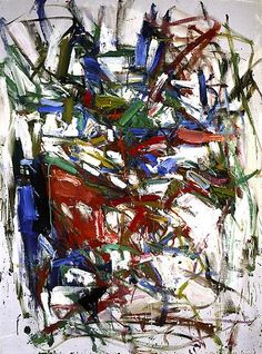 Joan Mitchell - Untitled, 1956-57 Oil on canvas 56 1/4 x 41 3/4 inches 142.9 x 106 cm