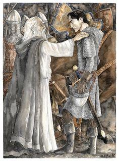Gandalf y Faramir - Anke-Katrin Eissmann