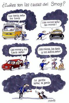 ¿Cuáles son las causas del smog?