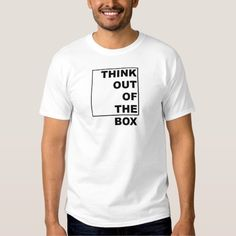 Think out of the box. T-shirt. Visit www.janclaes.be.