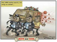 Political Satire, Journalism, Taxi, Death, African, Cartoon, Comics, Fictional Characters, Journaling