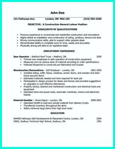 awesome how construction laborer resume must be rightly written check more at http