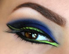 """Add some color to your drama!! Beautiful look called """"Neptune"""" (using Makeup Geek's Neptune & Fuji) by Allysaddiction. For the full list of whats used and other inspiring looks, check out the Idea Gallery! – Makeupgeek.com"""