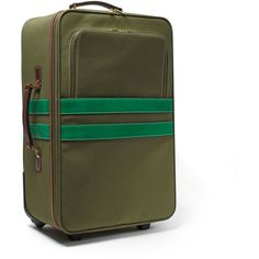 Corroon Pullman Army Rolling Carry-on Suitcase Green By ($550) ❤ liked on Polyvore featuring bags, luggage and handbags