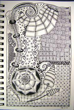 Doodles zentangles, zentangle patterns, relaxing art, zen doodle, doodle do Zentangle Drawings, Doodles Zentangles, Zentangle Patterns, Art Inspiration Drawing, Art Journal Inspiration, Journal Ideas, Art Journal Pages, Art Journals, Zen Doodle