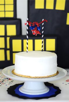 Simple Spider-Man Cake. perfect.