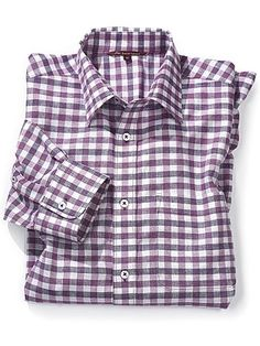 "Cool and fresh linen is combined with this season's gingham and stripes to produce the perfect shirts for warm summer days. Constructed from a beautifully soft blend of 55 per cent linen and 45 per cent cotton, they are airy and loose, with a relaxed silhouette. Machine washable at 30°.  Sizes (to fit chest): S (up to 37""), M (38-41""), L (42-45""), XL (46-49""), XXL (50-52"").   BVS156LY"