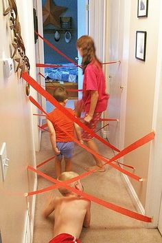 Or test their agility with a crepe paper maze. | 39 Slumber Party Ideas To Help You Throw The Best Sleepover Ever