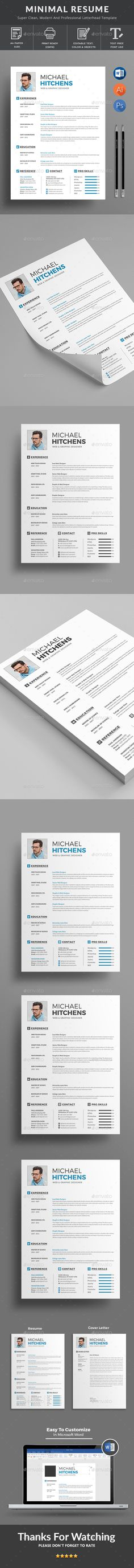 Clean Resume Template PSD design Download