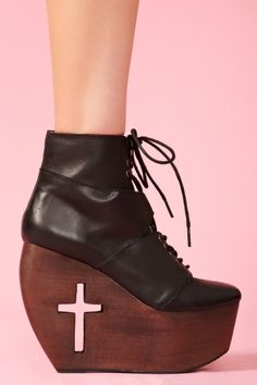 Bandit Cross Cutout Boot #wedges #shoes