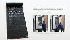 「ゴミを通貨にしよう。」 道ばたのゴミに価値を与えたマクドナルドのアンビエント広告 | AdGang