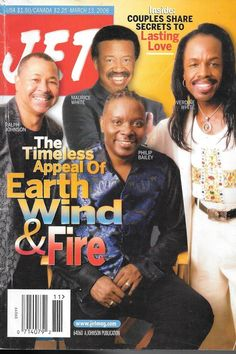 JET Magazine remembers legendary Earth, Wind, and Fire band leader Maurice White. Jet Magazine, Black Magazine, Ebony Magazine Cover, Magazine Covers, Earth Wind & Fire, Maurice White, Essence Magazine, Cartoon Books, Vintage Black Glamour