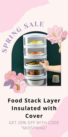 This Food Stack Layer Insulated with Cover is perfect for you! It's an easy way to keep meals fresh, clean, and safe from bugs. Sliding Door Design, Fresh And Clean, Spring Sale, Going To The Gym, Safe Food, Bugs, Snack Recipes, Layers, Meals