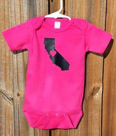 California Baby Bodysuit, Love State Pride, New Baby, Baby Shower gift.
