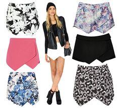 An asymmetrical skort is such a cute alternative to shorts.