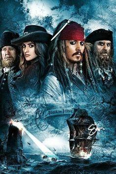 Pirates of the Caribbean Pelicula 05 Poster A3 Piratas Del Caribe Johnny Deep