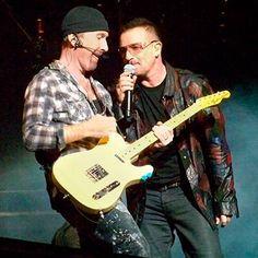 U2 recebe Lady Gaga em show em Nova Iorque!