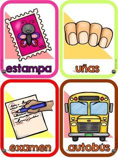 Preschool Spanish, Learning Spanish, Baby Learning, Learning Centers, Preschool Printables, Preschool Activities, School Colors, Future Classroom, Conte