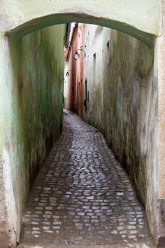 Strada Sforii ('String street') - Brasov, is the narrowest street in the city of Braşov, Romania. It is believed to be one of the narrowest streets in Europe