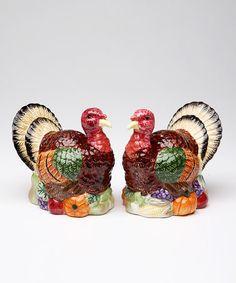 Loving this Turkey Salt & Pepper Set on #zulily! #zulilyfinds