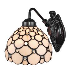 Shop for Amora Lighting Tiffany Style Jeweled Wall Sconce Lamp. Get free delivery On EVERYTHING* Overstock - Your Online Wall Lighting Store! Get in rewards with Club O! Wall Sconce Lighting, Wall Sconces, Wall Lamps, Mirrors, Victorian Design, Victorian House, Wall Fixtures, Bathroom Fixtures, Light Fixtures
