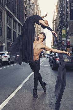 """Always wanted to do a fashion/ballet hybrid shoot of sort. Much love to my models - Alexander Fost, ballet dancer from season 8 of ""So You Think You Can Dance"" & Carrie Lee Riggins, formerly of the NYC Ballet and actress as seen in Black Swan."" Dance of Fashion by Paul Tirado, via 500px"