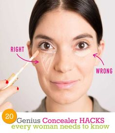 20 Genius Concealer Hacks Every Woman Needs to Know | Beauty and MakeUp Tips