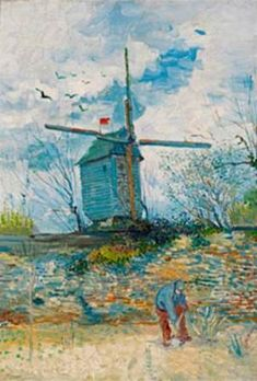 Vincent van Gogh Le Moulin de la Galette, oil on canvas, 55 x cm: Art Van, Van Gogh Pinturas, Hieronymus Bosch, Van Gogh Museum, Van Gogh Paintings, Dutch Painters, Dutch Artists, Wassily Kandinsky, Le Moulin