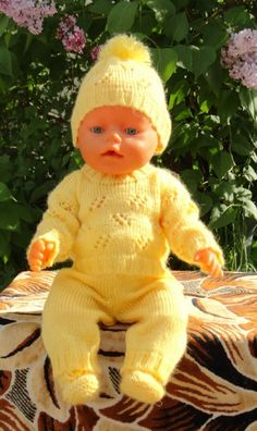 Baby Born Clothes, Bitty Baby Clothes, Handmade Baby Clothes, Girl Doll Clothes, Baby Cardigan Knitting Pattern, Baby Boy Knitting, Baby Knitting Patterns, Baby Patterns, Knitting Dolls Clothes