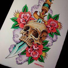 New painting #tattooenergy #classictattoo #besttradtattoos #traditionaltattoo #picoftheday #inkstagram #bestoftheday #customtattoo #bodymodification #instatattoo #tattoostagram #instacool #tattooartistmagazine #tatuaggio #tattoos #tattooistartmag #inkedmag #tattooitalia #bright_and_bold #tattoosnob #tattooworkers #inkedmagazine #ildilatatore #iltatuaggio #tattoo_of_instagram #amazingtattoo #skulltattoo #traditional_flash #italiantraditionaltattoo #watercolor