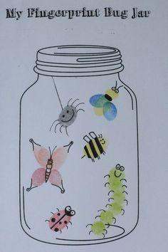 activites manuelles clsh Insect Crafts, Bug Crafts, Daycare Crafts, Classroom Crafts, Daycare Rooms, Toddler Art, Toddler Crafts, Crafts For Kids, Fingerprint Art