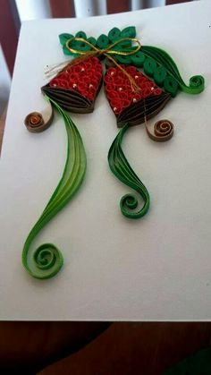 Quilling Quilling Images, Quilling Videos, Quilling Techniques, Quilling Patterns, Quilling Designs, Quilling Christmas, Diy Christmas Cards, Christmas Paper, Christmas Crafts