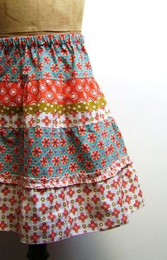 Colorful Summer Skirt Pattern - Silly Old Suitcase
