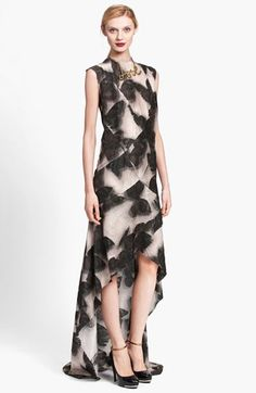 Lanvin Butterfly Print High/Low Gown | Nordstrom