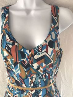 Willow and Clay Sundress Geometric Abstract Dress Hi Low Hem Size Office Wear XS #WillowandClay #Sundress #Casual