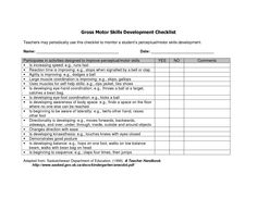 Play Observation Checklist Printable For Child Care  Childcare