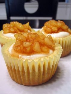 Apple Cheesecake Cupcakes  I get special requests to make these!