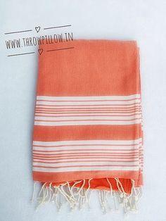 Orange Stripes Turkish Fouta