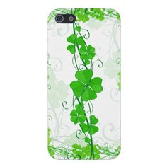 Green Lucky Shamrock iPhone 5 Covers