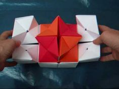 origami - modular - double star flexicube (David Brill) - dutchpapergirl - YouTube