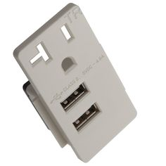TOPGREENER TU12048A 4.8A 24A Ultra High Speed 2-Port-USB Charger Outlet 20A Receptacle Tamper Resistant, Click On USB Module, White - - Amazon.com
