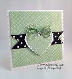 The new embossing folder on the heart.