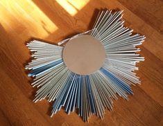 Embellissez votre miroir rond avec une décoration spectaculaire et donnez-lui une apparence de grand soleil !