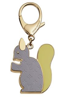 louis vuitton squirrel key ring