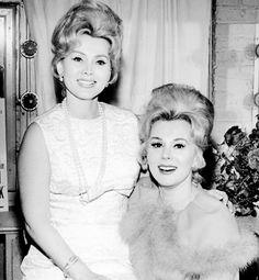 """Zsa Zsa and Eva Gabor, 1960s"""