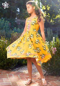 Brilliant Daydream, Spring Let's Begin Dress Hankerchief Dress, Pretty In Pink Dress, Golden Dress, Wish Dresses, Dress Cake, Sweetheart Dress, Sweet Dress, Girls Rompers, Baby Girl Fashion