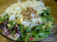 Πράσινη πολυσαλάτα με σος Greek Recipes, Cobb Salad, Salad Recipes, Potato Salad, Cabbage, Salads, Rice, Vegetables, Ethnic Recipes